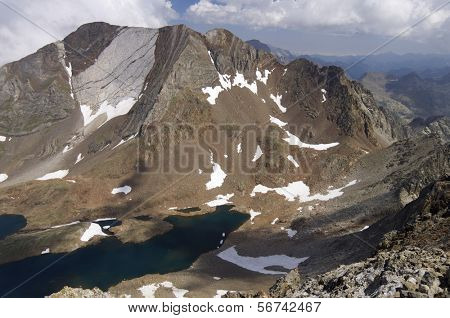 view of the Peaks of Hell, Pyrenees, Tena Valley, Panticosa, Huesca, Aragon, Spain