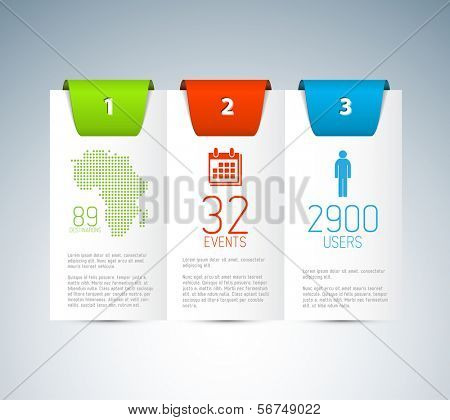 Numbered Vector Paper Progress background / product choice or versions