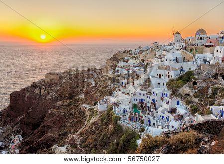 Oia Town , Santorini Island, Greece