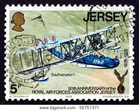 Postage Stamp Jersey 1975 Southampton 1, Plane