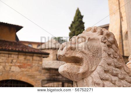 Lion Statue Near Basilica