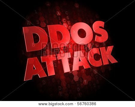 DDoS Attack on Dark Digital Background.