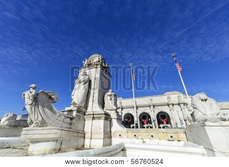 Columbus Memorial and Union Station in Washington DC