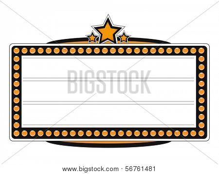 Cinema Blank Billboard Vector Design