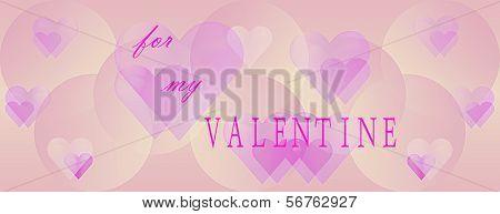 Panoramic Valentines Day Background