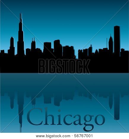 Chicago Sky Line Vector