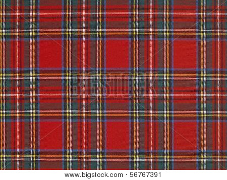 high resolution typical scottish tissue with red background