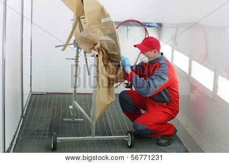 The image of working painter