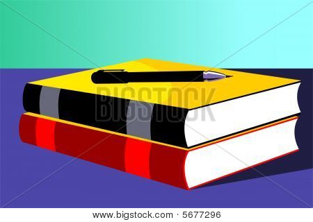 book and pencil