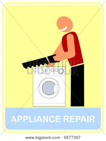 Repair and service of household appliance