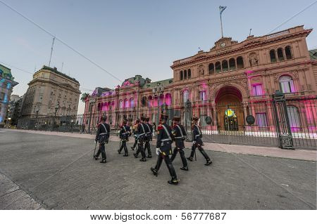 Horse Grenadiers In Buenos Aires, Argentina.
