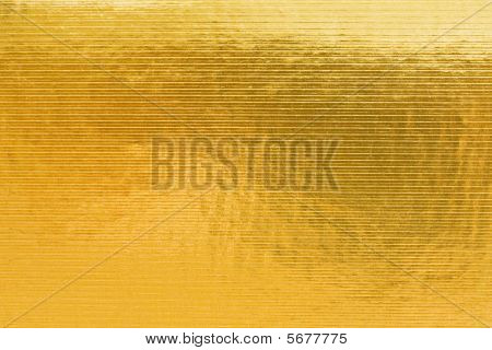 Gold Embossing Of Cardboard