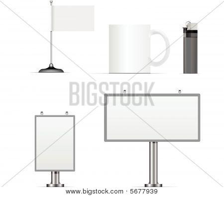 Vector conjunto de elementos de diseño de identidad corporativa