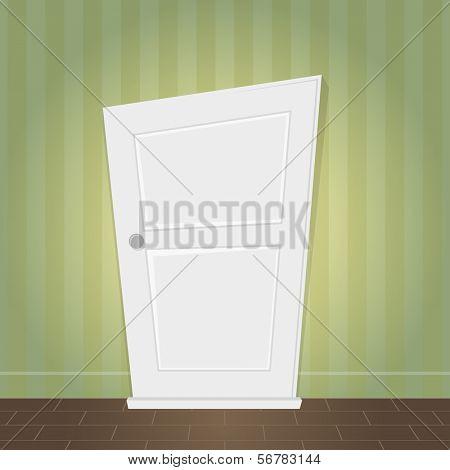 cartoon door is locked