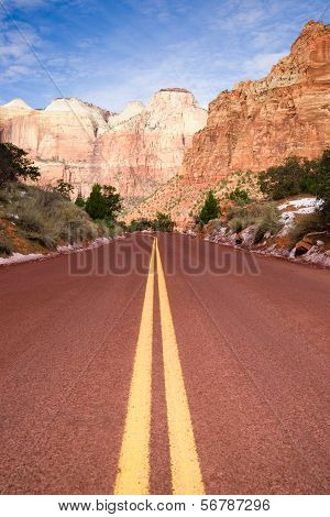 Highway 9 Zion Park Blvd Road Buttes Altar Of Sacrifice
