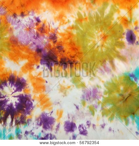 Abstract Pattern On Handmade Silk Batik