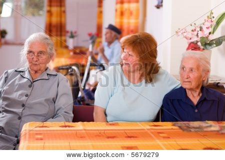 Senior People In A Nursing Home