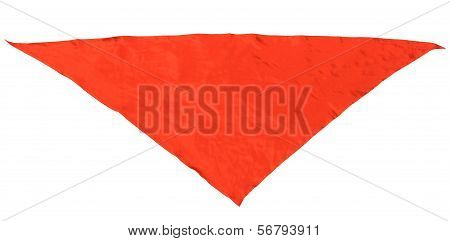 Red Silk Triangular Neckerchief