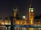 picture of london night  - Westminster palace and Big Ben at night London december 2013 - JPG