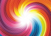 stock photo of end rainbow  - Rainbow swirl  - JPG