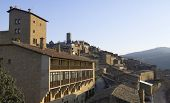 image of parador  - view at sunset of the town of Sos del Rey Catolico - JPG