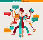 picture of multitasking  - Super Mom  - JPG