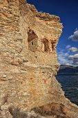 image of martello  - The original Mortello Tower at Punta Mortella on the coast of the Desert Des Agriates near St Florent Corsica - JPG