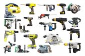 picture of hand drill  - Tools under the white background - JPG