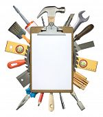 foto of clipboard  - Carpentry - JPG
