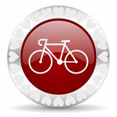 bicycle valentines day icon