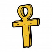 image of ankh  - cartoon ankh symbol - JPG