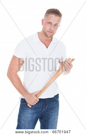 Bully Holding A Baseball Bat