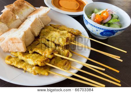 Pork Satay With Peanut Sauce