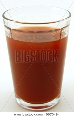 Glass of fresh tomato juice
