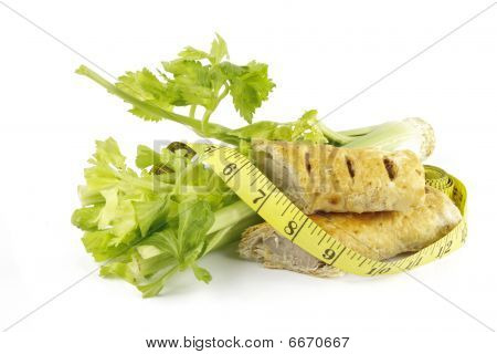Celery With Sausage Roll And Tape Measure