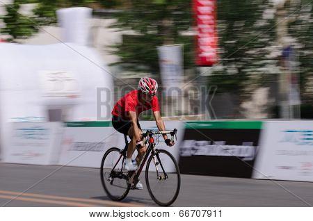 Bike race in a road in China
