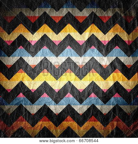 Leather Colorful Seamless Chevron Pattern