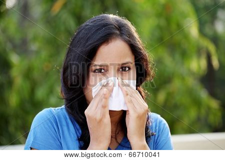 Young Woman Suffering With Cold