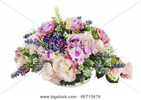 Bouquet From Artificial Flowers.