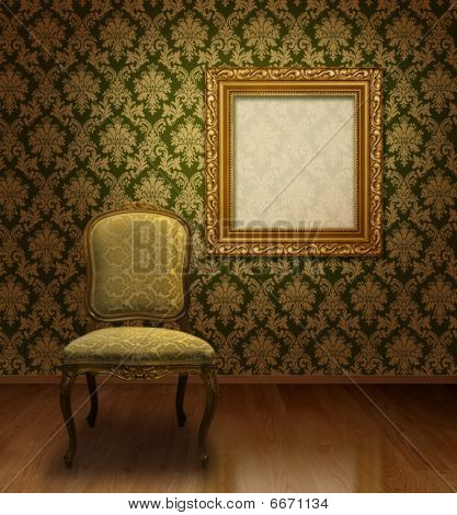 Classic Chair In Room