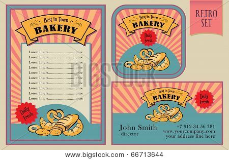 Vintage Vector Bakery Labels Collection