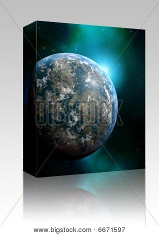 Planet Earth Illustration Box Package