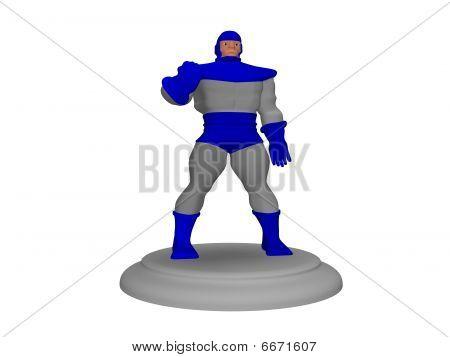cartoon character posing