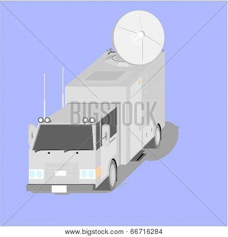Satellite uplink truck
