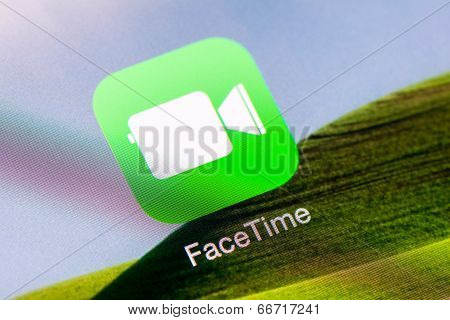 Facetime Application On Apple iPad Air