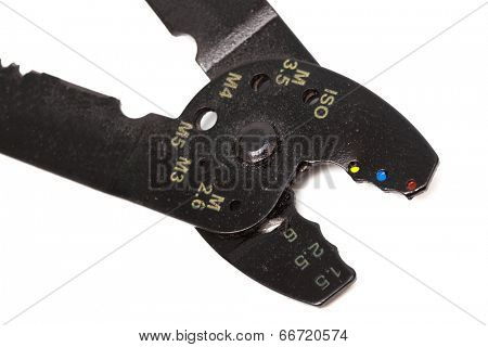 wire cutters on a white background
