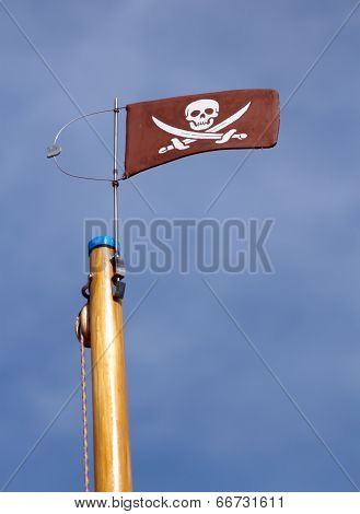 Jolly Roger skull and crossbones pirate flag