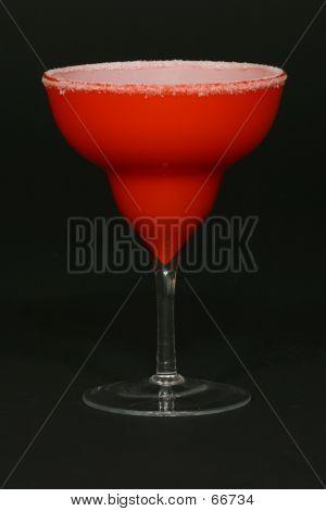Red Margarita Glass