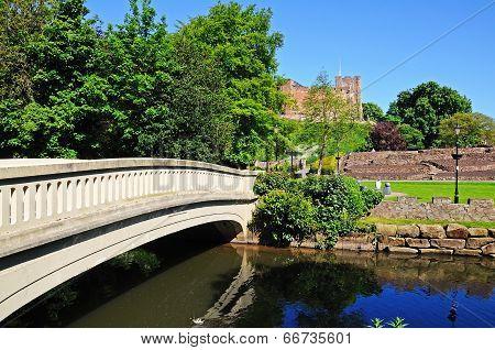 Footbridge over river Tame, Tamworth.