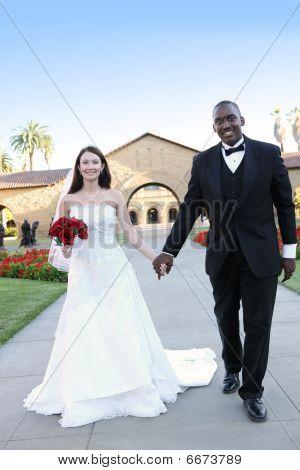 Attractive Interracial Wedding Couple Stock photo